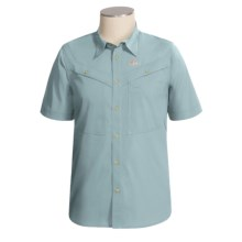 Lowe Alpine Odyssey Shirt - Short Sleeve (For Men) in Light Blue Grey - Closeouts