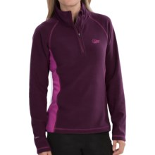 Lowe Alpine Polartec® Classic Microfleece Pullover Shirt - Zip Neck, Long Sleeve (For Women) in Eggplant/Hollyhock - Closeouts
