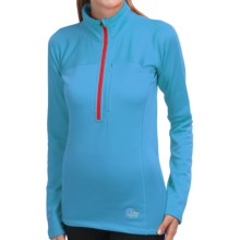 Lowe Alpine Polartec® Power Stretch® Shirt - Zip Neck, Long Sleeve (For Women) in Vivid Blue - Closeouts