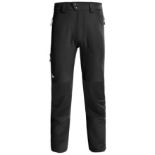 Lowe Alpine Sierra Lite Pants - Soft Shell (For Men) in Black/Black - Closeouts