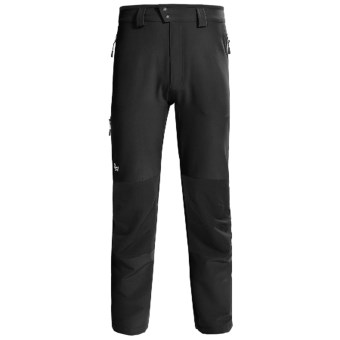 Lowe Alpine Sierra Lite Pants - Soft Shell (For Men) in Black/Black