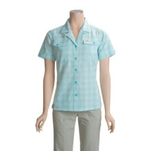 Lowe Alpine Tropic Shirt - Short Sleeve (For Women) in Chalk/Blue Radiance - Closeouts