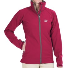 Lowe Alpine Vapour Trail Soft Shell Jacket (For Women) in Rosehip/Anthracite - Closeouts