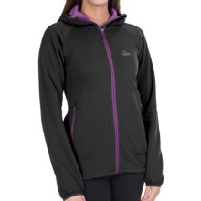 Lowe Alpine Vault Fleece Hoodie (For Women) in Anthracite/Grapejuice - Closeouts