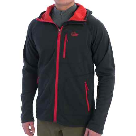 Lowe Alpine Vault Hoodie (For Men) in Anthracite/Aurora Red - Closeouts