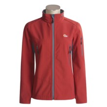 Lowe Alpine Zone Jacket - Soft Shell (For Women) in Ruby/Gunmetal/Gunmetal - Closeouts