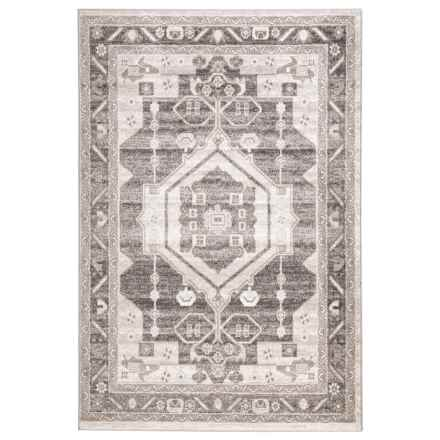 LR Home Contemporary Medallion Area Rug - 5x7', Stone-Magnet in Stone/Magnet - Closeouts