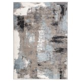 LR Home Modern Art Look Area Rug - 5x7', Walnut-Silver