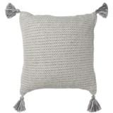 "LR Resources Basket-Weave Tasseled Decor Pillow - 18x18"""