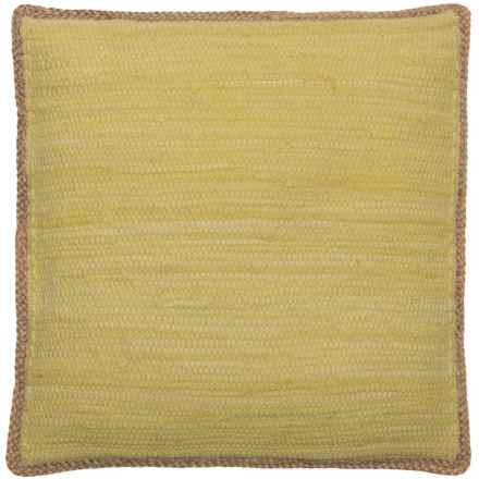 """LR Resources Decor Pillow - 20x20"""" in Yellow - Closeouts"""