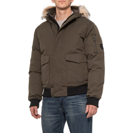 Lucas Bomber Down Jacket - 550 Fill Power (For Men) - MILITARY/CRYSTAL (L )
