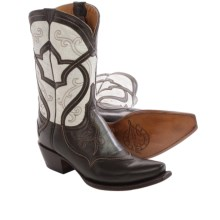 Lucchese Audine Cowboy Boots - Leather, Snip Toe (For Women) in Whiskey - Closeouts