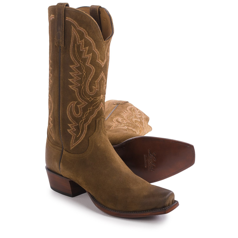 Lucchese Austin Comanche Calfskin Cowboy Boots (For Men)