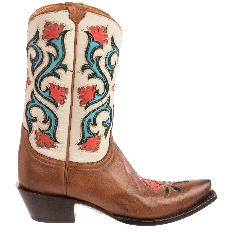 lucchese flower cowboy boots for 104vu