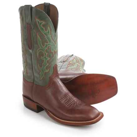 Lucchese Buccaneer Cowboy Boots - Square Toe (For Men) in Tan - Closeouts