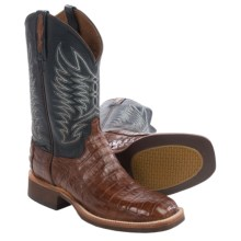 Lucchese Caiman Belly Tail Cowboy Boots - W-Toe (For Men) in Sienna - Closeouts