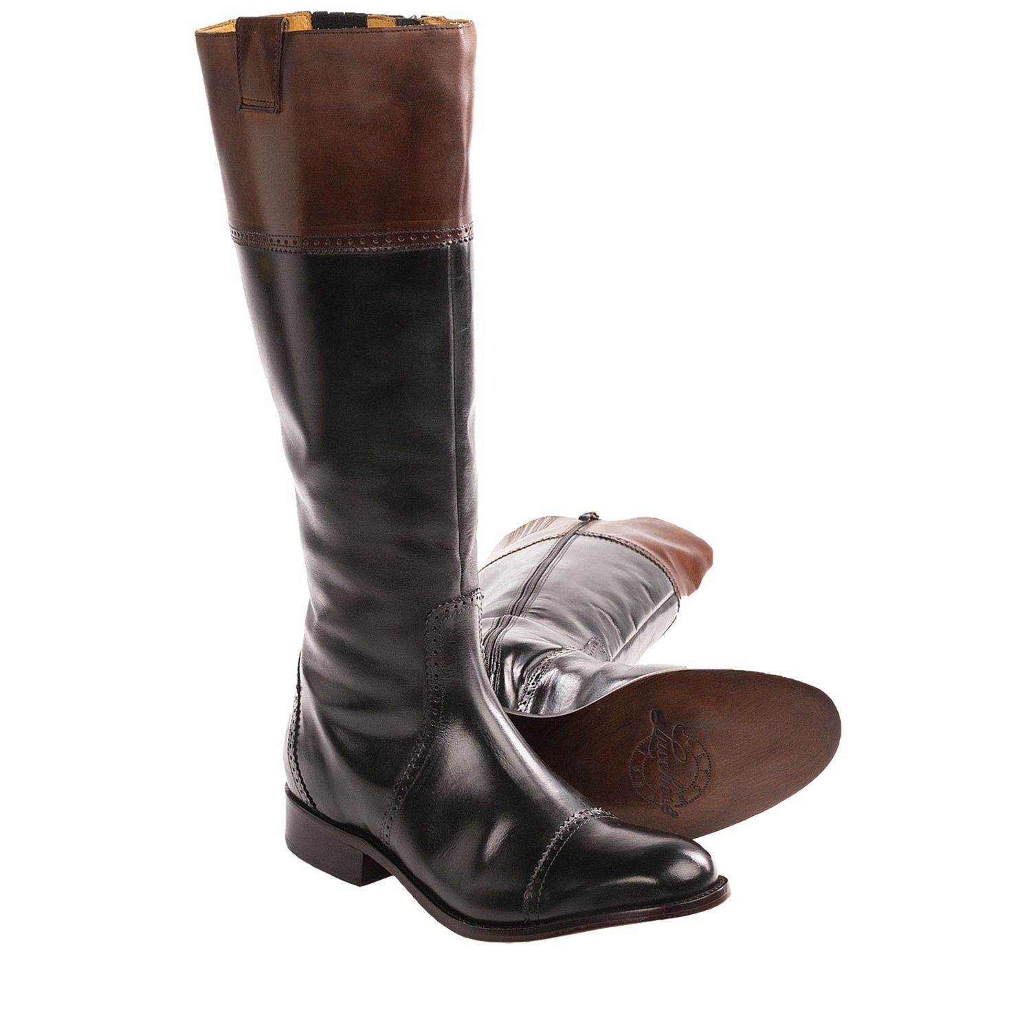 Lucchese Collared English Riding Boots Leather For Women
