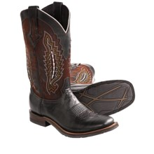 Lucchese El Campo Kid Cowboy Boots - Leather (For Men) in Black - Closeouts