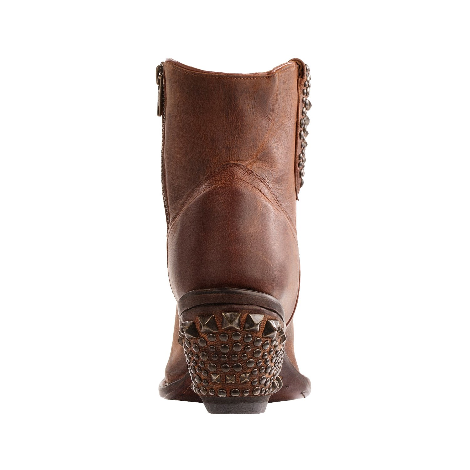 Awesome Lucchese M5618 Womens Tan Burnished Brown Ostrich Leg Western Cowboy Boots | EBay