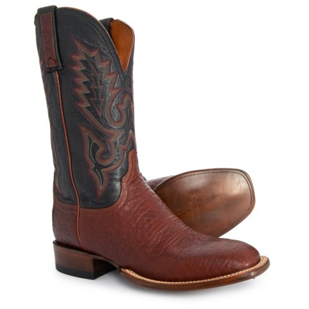 c74e60d2cb Lucchese Lavati Calf Cowboy Boots (For Men) in Brown