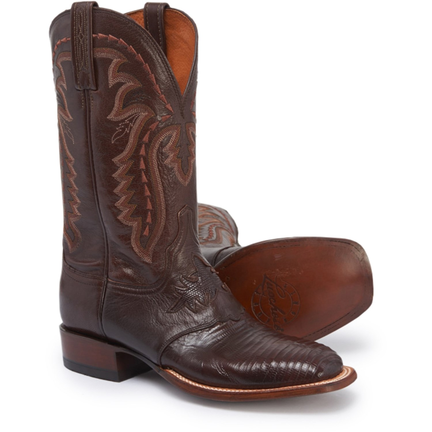 "excellent quality discount new lower prices Lucchese Limited Release KD6009.WF Cowboy Boots - Lizard, Square Toe, 12""  (For Men)"