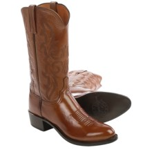 Lucchese Lonestar Cowboy Boots - Leather, Round Toe (For Men) in Antique Brown - Closeouts