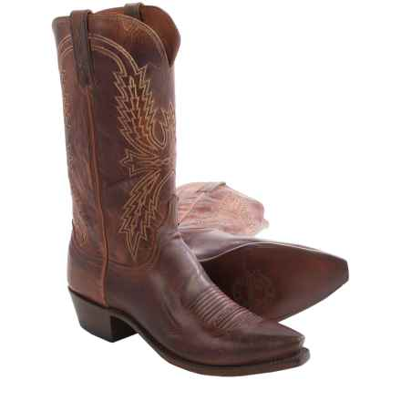 Lucchese Mad Dog Cowboy Boots - Goat Leather (For Men) in Peanut Brittle - Closeouts