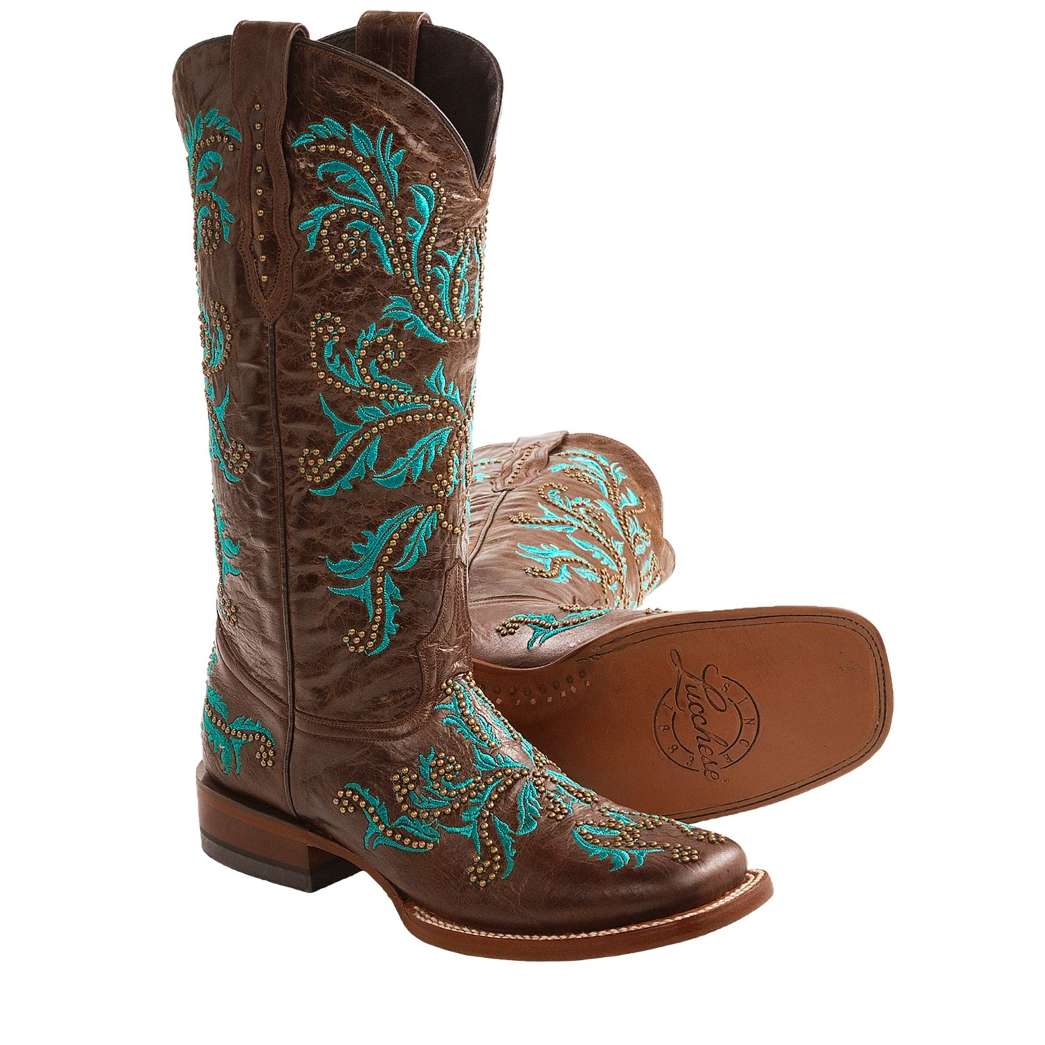 lucchese norwood calf cowboy boots leather for