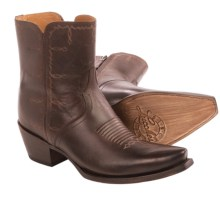 Lucchese Rhiannon Demi Cowboy Boots - S5-Toe (For Women) in Espresso - Closeouts