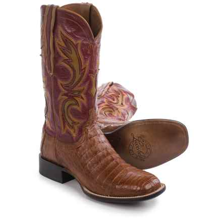Lucchese Shiloh Caiman Belly Cowboy Boots - Leather (For Men) in Tan - Closeouts
