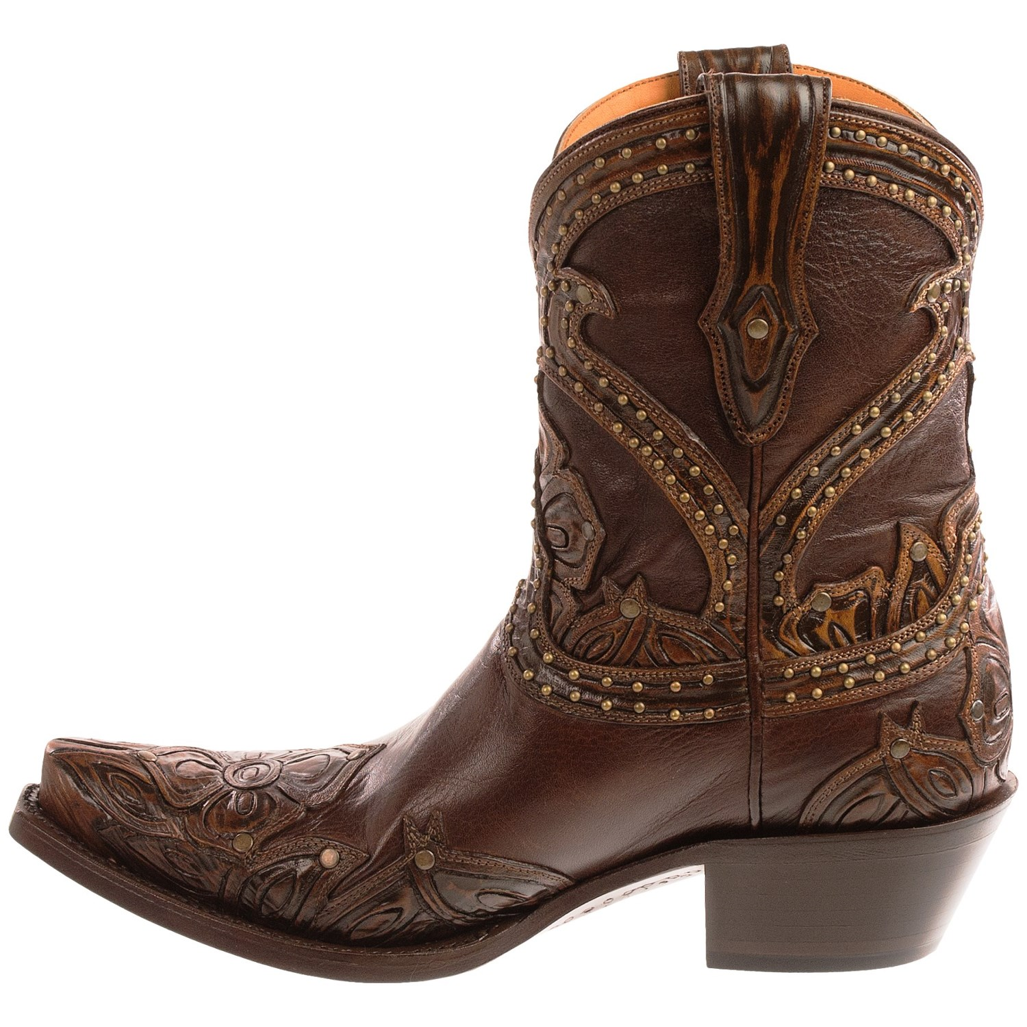 Fantastic Lucchese Tooled Petal Cowboy Boots (For Women) 9300Y