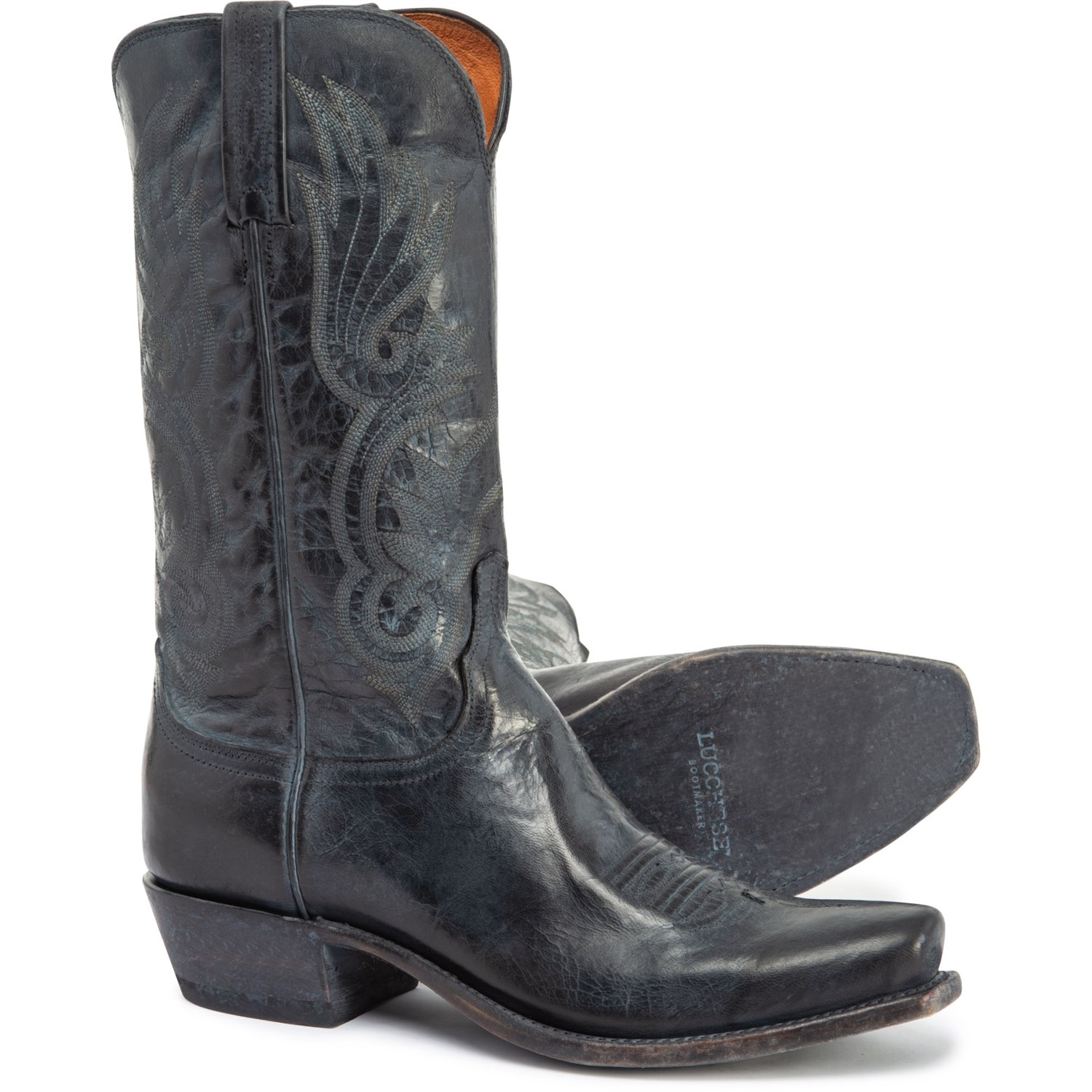 """ff462559c69 Lucchese Whittaker Goat Cowboy Boots - 12"""", Snip Toe (For Men)"""