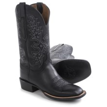 "Lucchese Wide Square Toe Cowboy Boots - 12"" (For Men) in Black - Closeouts"