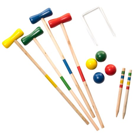 Luckies Garden Croquet Game in See Photo
