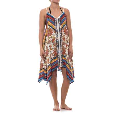 Lucky & Coco Printed Cover-Up - Sleeveless (For Women) in Ivory Tangerine Floral - Closeouts