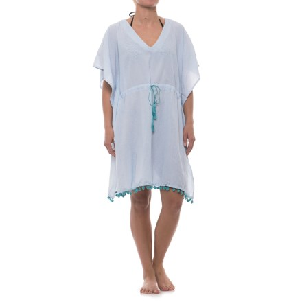 1fdea9eafd684 Lucky & Coco Tassel Tie Tunic Cover-Up - Short Sleeve (For Women)