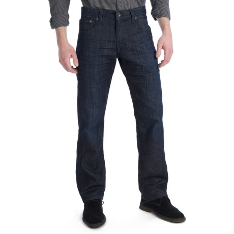 Lucky Brand 221 Original Jeans - Straight Leg, Slim Fit (For Men) in Dark Blue Denim