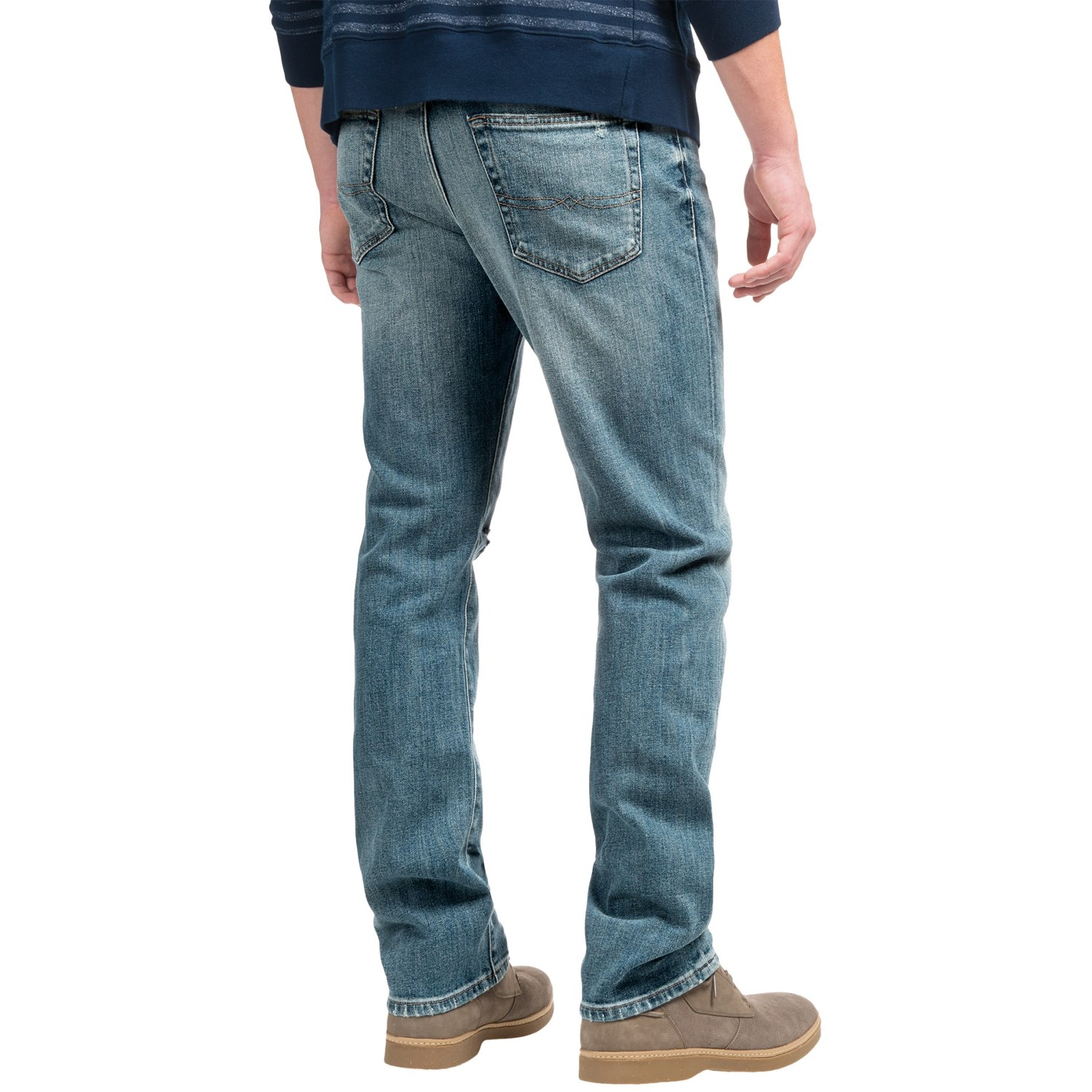 Lucky Brand 410 Athletic Fit Mid-Rise Jeans (For Men)