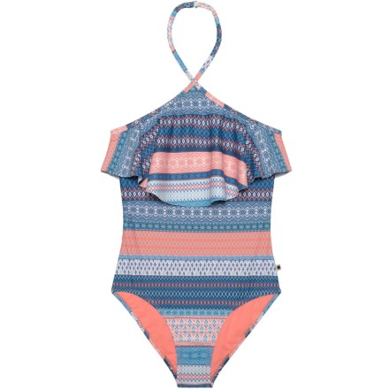 b9363ddbe3 Lucky Brand Abbey One-Piece Swimsuit - UPF 50+ (For Big Girls)