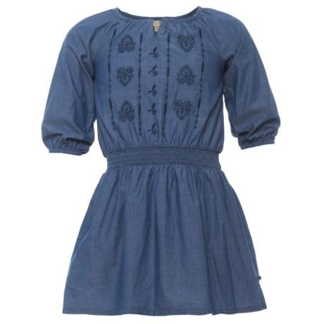Lucky Brand Amanda Chambray Dress - Long Sleeve (For Big Girls) in Suki Wash