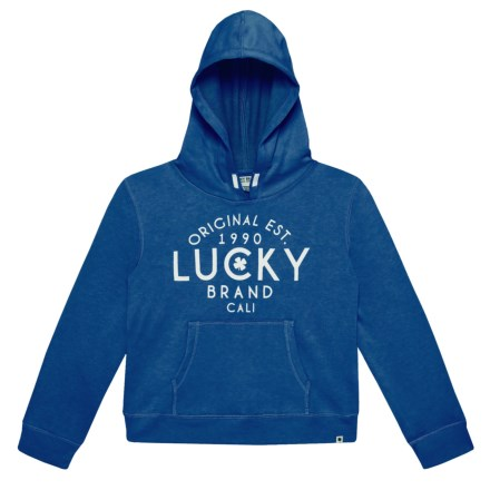 804d28f23fdc Lucky Brand Amelie Hoodie (For Big Girls) in Galaxy Blue - Closeouts