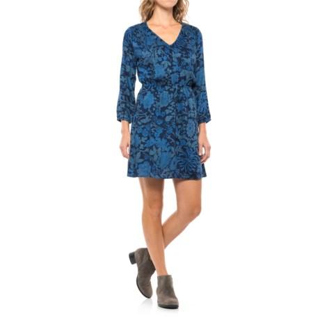 Lucky Brand Anaelisa Dress - 3/4 Sleeve (For Women) in Blue Multi