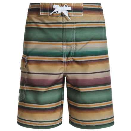 Lucky Brand Baha Swim Trunks - Built-In Briefs (For Little Boys) in Multi - Closeouts
