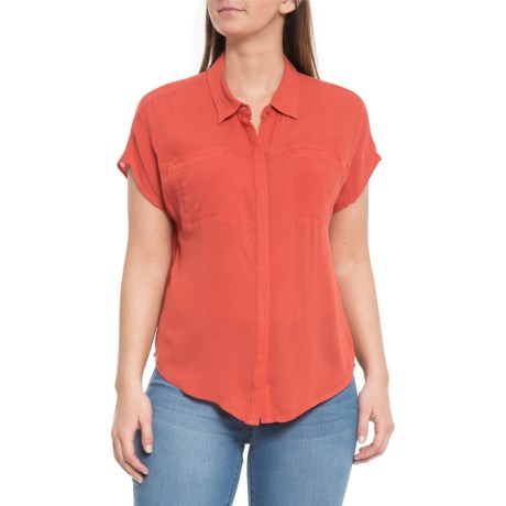 e25f5eb8 Lucky Brand Baked Apple Button-Down Shirt - Short Sleeve (For Women) in