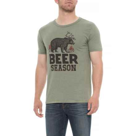 Lucky Brand Beer Season Graphic T-Shirt - Short Sleeve (For Men) in Sage - Closeouts