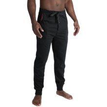 Lucky Brand Black Label Sueded Lounge Pants (For Men) in Jet Black - Closeouts