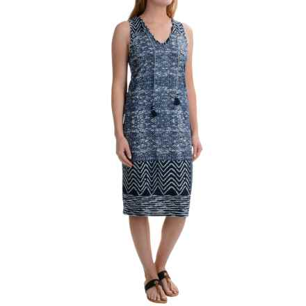 Lucky Brand Blue Batik Dress - Sleeveless (For Women) in Navy Multi - Closeouts