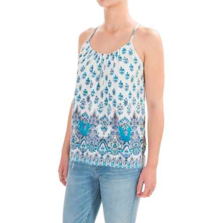 Lucky Brand Border Strappy Tank Top (For Women) in Natural Multi - Closeouts