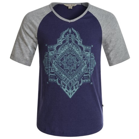 Lucky Brand Brooklyn T-Shirt - V-Neck, Elbow Sleeve (For Big Girls) in Dark Denim