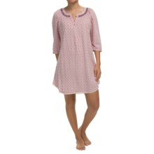 Lucky Brand Brushed-Jersey Pajama Shirt - 3/4 Sleeve (For Women) in Spring Light Red - Closeouts